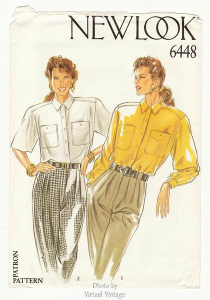 New Look 6448 blouse pattern