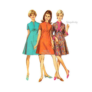 Simplicity 7250 A Line Mini Dress Pattern