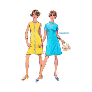 1960's Keyhole A Line Dress Pattern, Simplicity 8136