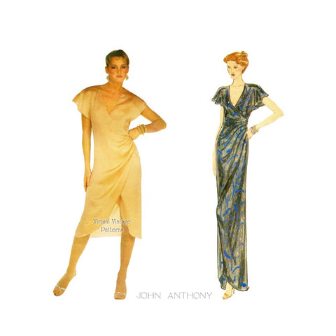 1970s Wrap Dress Pattern, Vogue American Designer 2223