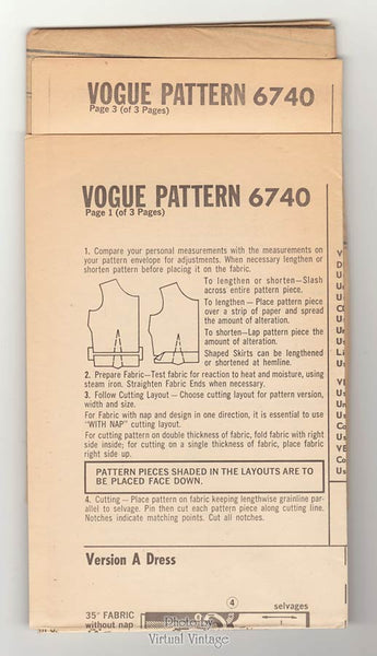 60s Vogue Special Design 6740 Sheath Dress Pattern with A-line Coat or Cropped Jacket, Bust 34 Uncut