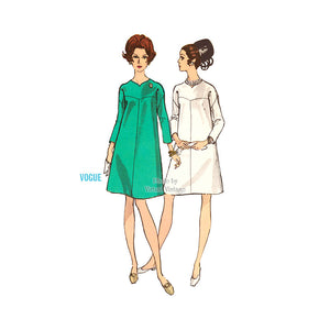1960s A Line Dress Pattern Vogue 7341