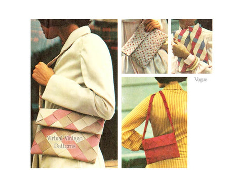 Vintage Envelope Purse Pattern, Vogue 8834