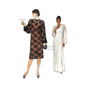 1980s Dress Pattern, Vogue 8862, Slip & Lace Dress Sewing Patterns, Size 8 10 12 or 14 16 18, Uncut