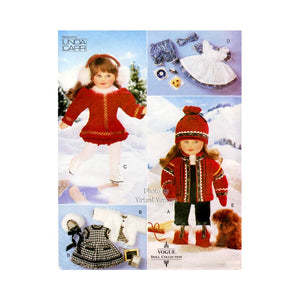 "18"" Doll Clothes Pattern, Vogue Craft 9579"