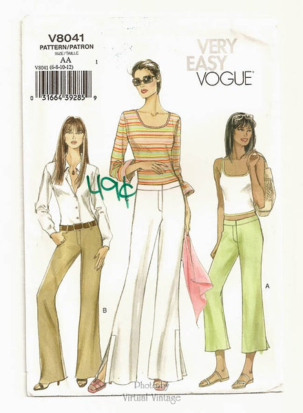Very Easy Vogue V8041, Womens Pants Pattern