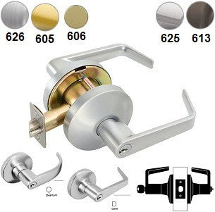 Falcon W511 Entry/Office Lever Lock - Barzellock.com
