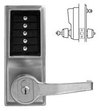 Simplex L1076 Cylindrical Lock, Combination Entry, Key Override, And Privacy .L1000 Series
