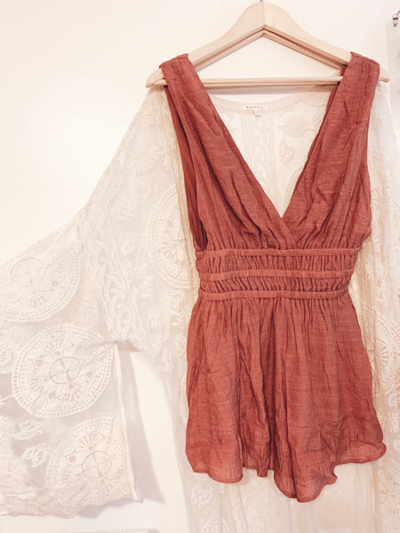Rust Rebel Romper - Hippie Kids
