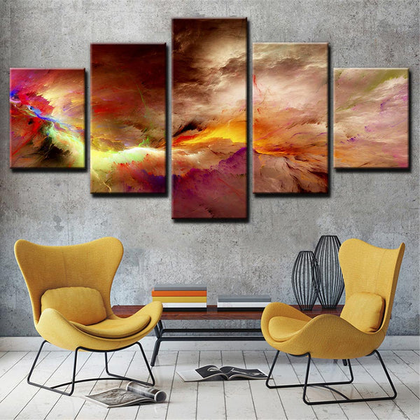 Modern cloudscape picture sky view Abstract Home Art Canvas Print 79""