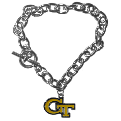Georgia Tech Yellow Jackets Charm Chain Bracelet
