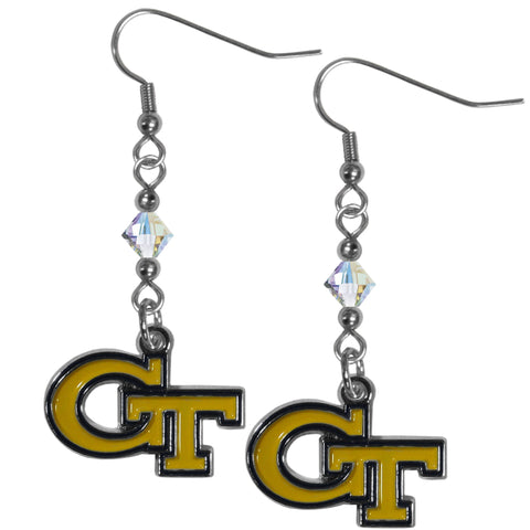 Georgia Tech Yellow Jackets Crystal Dangle Earrings