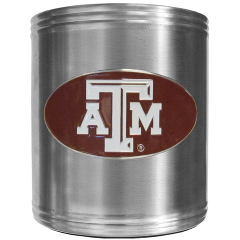 Texas A & M Aggies Steel Can Cooler
