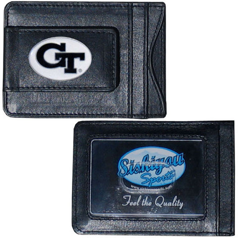 Georgia Tech Yellow Jackets Leather Cash & Cardholder