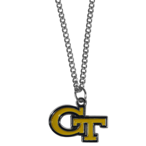 Georgia Tech Yellow Jackets Chain Necklace with Small Charm