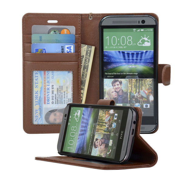 HTC M8 Wallet Case Navor