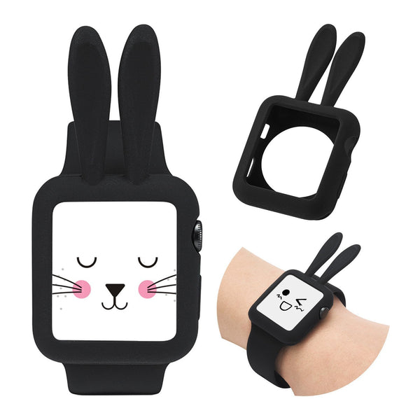 Soft Silicone Protective Bunny Rabbit Style Case Compatible with Apple Watch 42mm [Series 1, 2, 3]