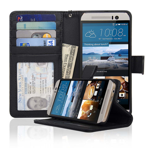 HTC M9 Wallet Case Navor