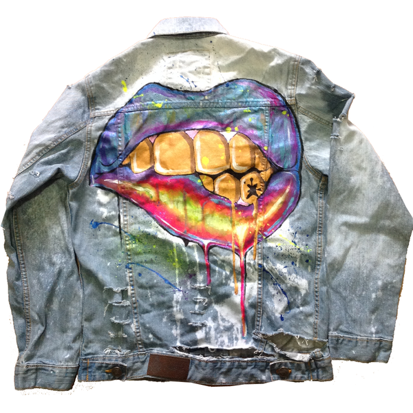 Custom Gold Grillz 2 Jean Jacket