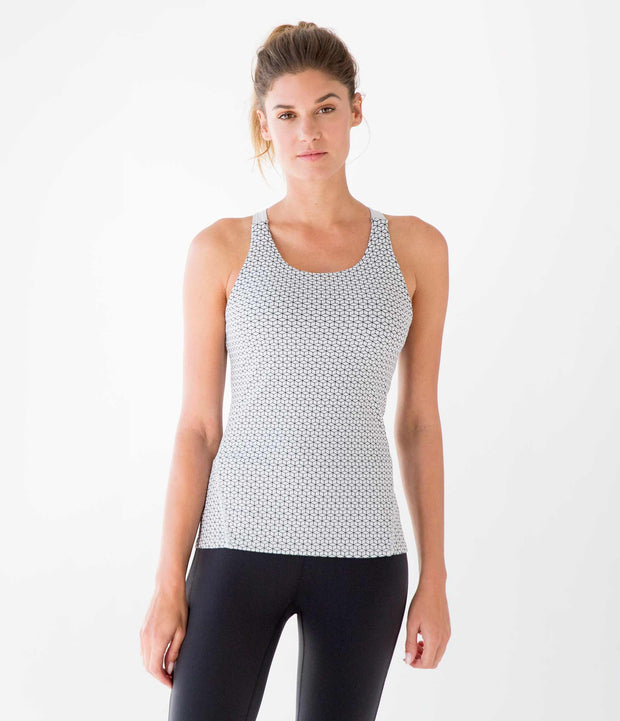 DwellStudio Keyhole Bra Tank, color-microchip