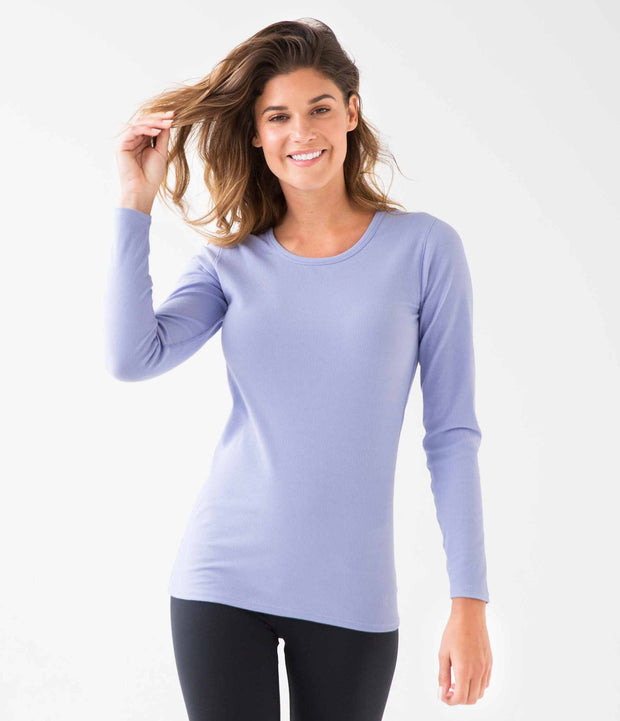 Ribbed Long Sleeve Tee, color-lavender