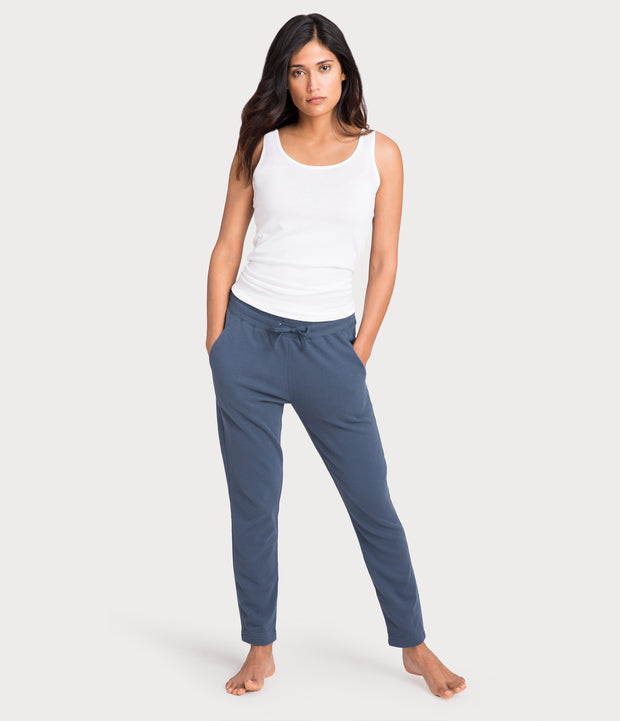 french terry pant, color-vintage-indigo
