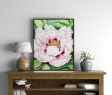 Beautiful Peony giclée watercolour paper