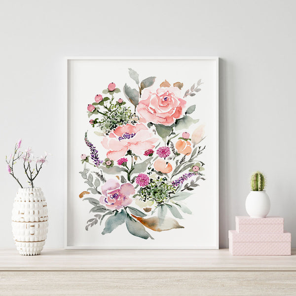 Rose Bouquet giclée watercolour paper