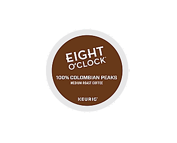 K-Cups - Eight O'Clock 100% Colombian Peaks K-Cups