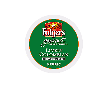 K-Cups - Folgers Gourmet 12ct Decaf Lively Colombian K-Cups