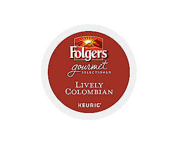 K-Cups - Folgers Gourmet 12ct Lively Colombian K-Cups