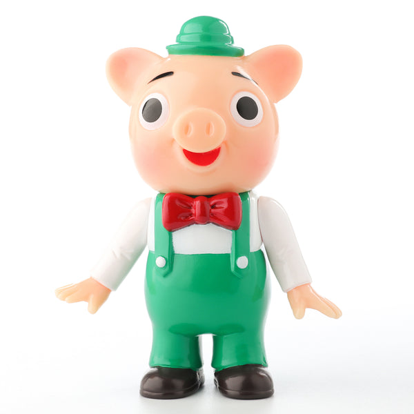 Pointless Island 3 Little Pigs Green 3.7-inch vinyl figure by Awesome Toys