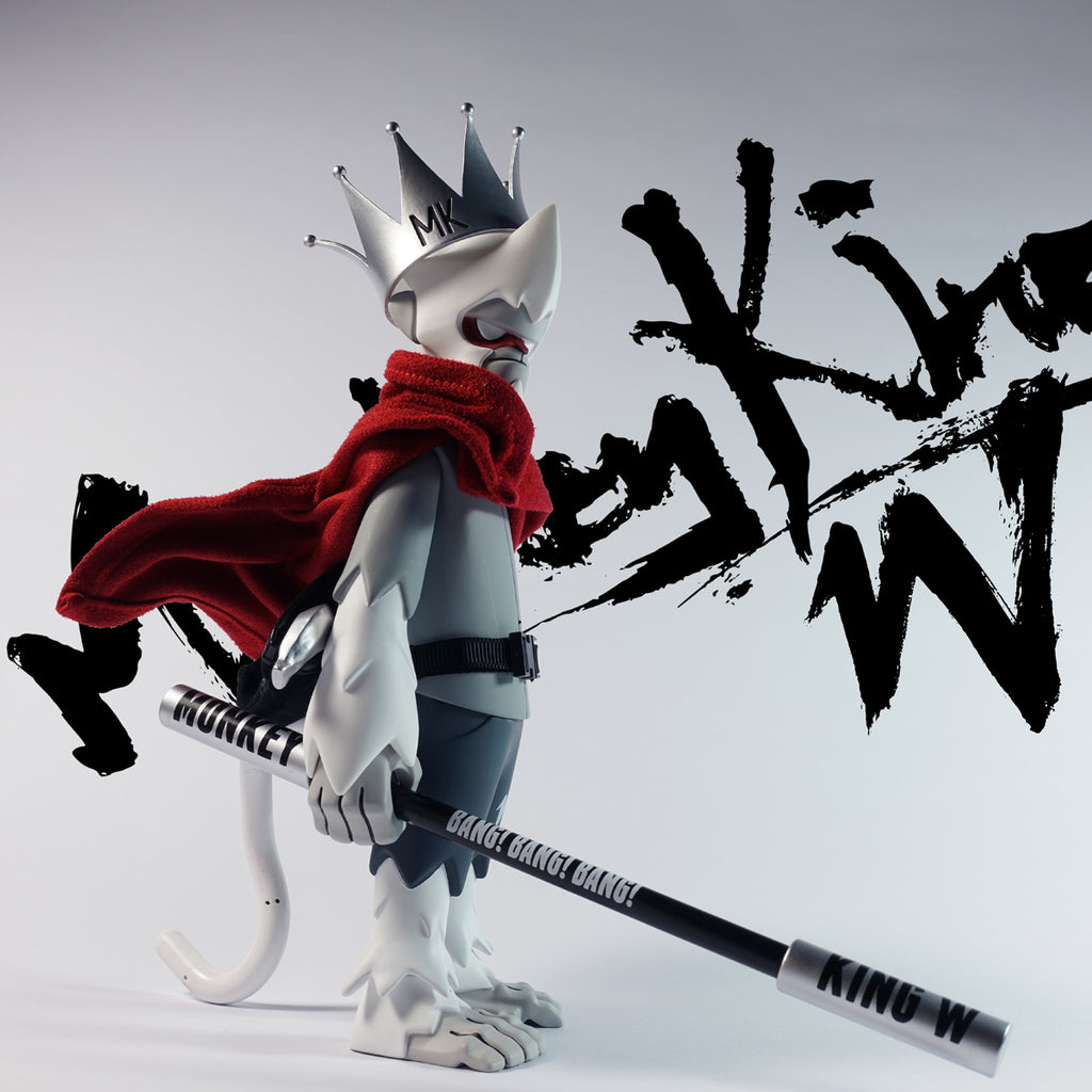 Monkey King W Ink White 8-inch vinyl figure by JT Studio