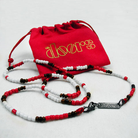The Doors Official Young Lion Necklace red white black