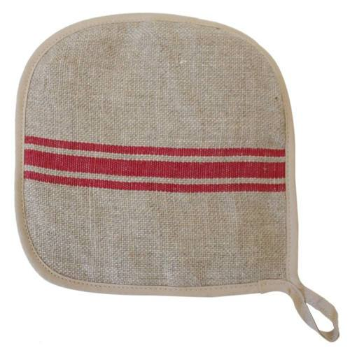 French Monogramme Linen Pot Holders by Thieffry Freres & Cie