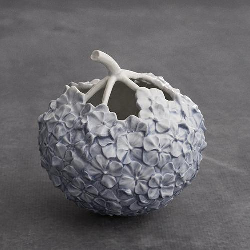 Hydrangea Vase, Blue by Royal Copenhagen