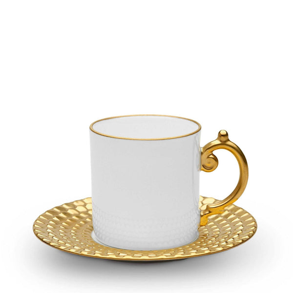 Aegean Gold Espresso Cup & Saucer by L'Objet