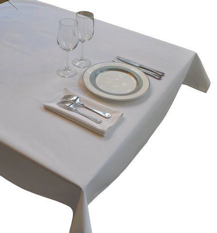 Nouvelle Legende® Tablecloth - Commercial Grade 52 in. by 96 in. White