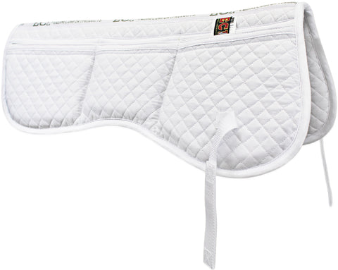 ECP Cotton Correction Contoured Half Saddle Pad - Memory Foam Pockets