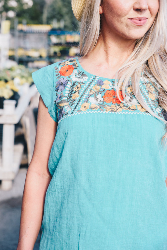 Fiesta Blouse - Teal