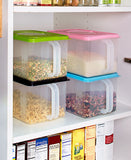 Modular Extra Large Canister Stackable Bulk Food Storage  Container with Air Tight Lids