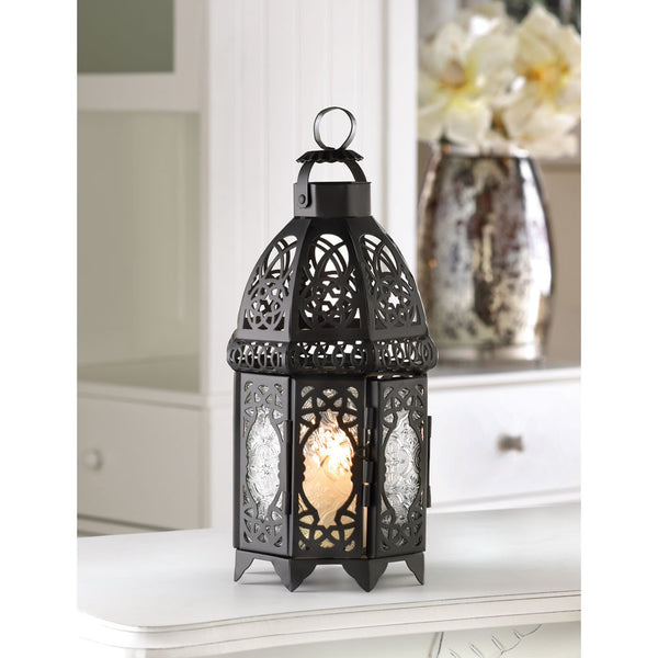 Black Lattice Lantern - Yolis Beauty Barn