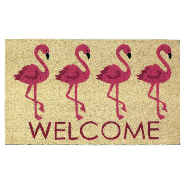 Flamingo Welcome Mat - Yolis Beauty Barn