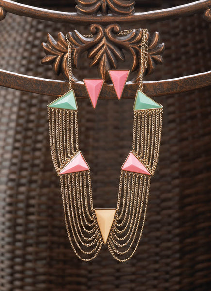 Modern Art Deco Jewelry Set - Yolis Beauty Barn