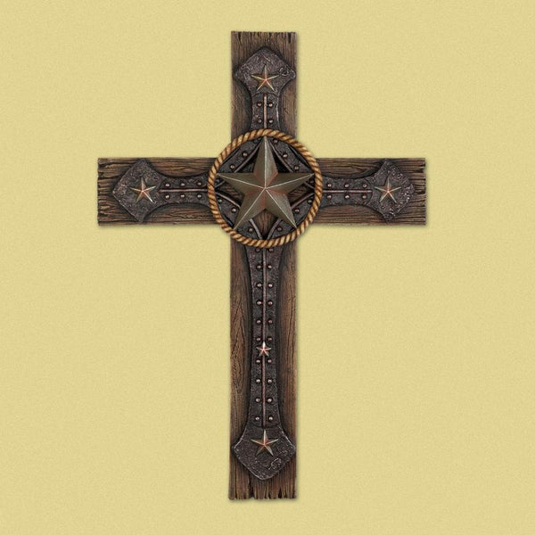 Rustic Cowboy Wall Cross - Yolis Beauty Barn