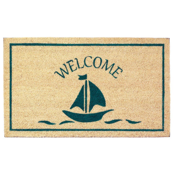Sailboat Welcome Doormat - Yolis Beauty Barn
