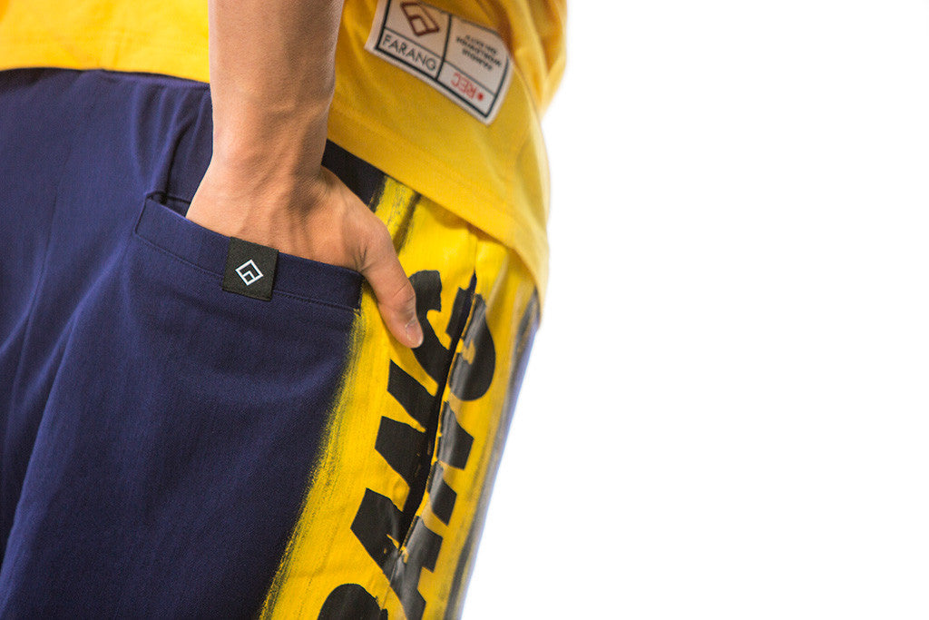 SKYLINE - SHORTS - (BLUE/YELLOW)