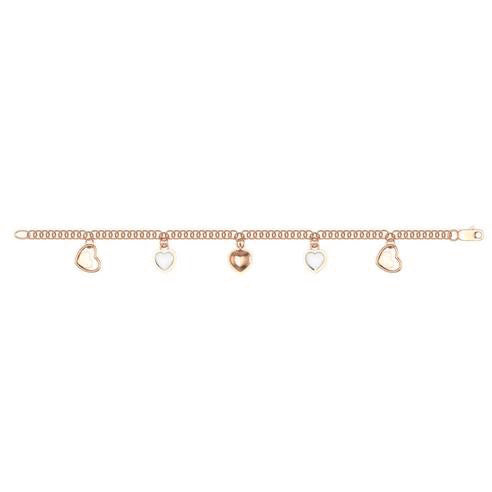 HEIRLOOM DANGLING HEARTS BABY ANKLET/ADULT BRACELET 18K GOLD