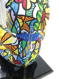 LIMITED EDITION ROMERO BRITTO Collector's Teddy Bear Numbered 20/200 W/Case NEW!