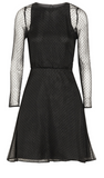 NEW! KARL LAGERFELD Women LBD Little Black Dress Edita Swiss Polka Dot Mini